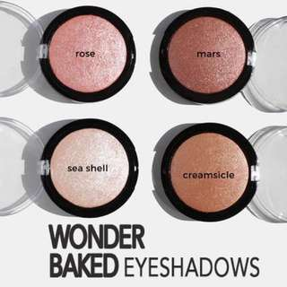 Pinks & Reds. Wonder Baked Eyeshadows Vegan US Drugstore Cruelty-free Cosmetic Makeup Aoa Studio