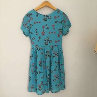 Blue keys dress