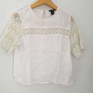 H & M white blouse
