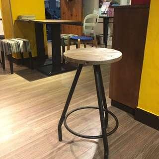🚚 復古木頭高腳椅