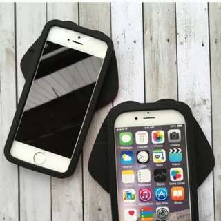 iPhone 粉紅嫩唇矽膠手機殼