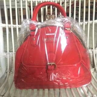 tas furla merah ori