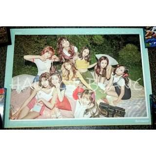 (Free Shipping) TWICE Twicetagram Official Poster (Blue)