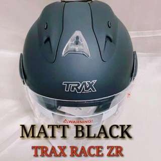 Matte Black Trax Race ZR Helmet