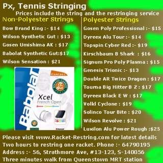 Px, Tennis Stringing