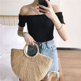 [INSTOCKS] OFF SHOULDER TOP