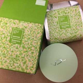 🚚 VDL 修容氣墊 (共2個替換)(綠色)2017年 新款 氣墊粉餅