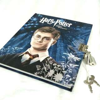 NEW Harry Potter Locked Journal - Notebook, Diary, Blank Pages, Hardcover, Special Designs, Lock and Key