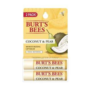 Burt's Bees 100% Natural Moisturizing Lip Balm | Coconut & Pear 2 Counts