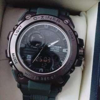 Jam tangan pria Dual time D-ziner original