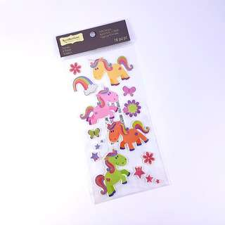 Unicorn Themed Puffy Sticker by Recollections