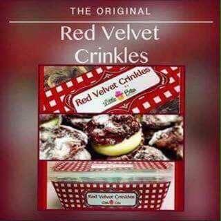 Little Bites Red Velvet Crinkles