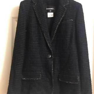 Chanel Tweed Jacket Used sz38