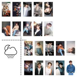 wanna one lomo card 20 pcs (in tin case)