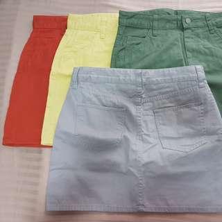 Uniqlo Mini Skirt Set of 2