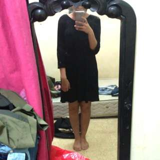 PULL & BEAR low back black dress