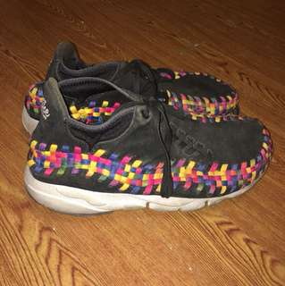 🚚 Nike footscape woven 黑彩虹編織 黑彩 us10.5