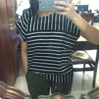 COTTON INK Stripes blouse