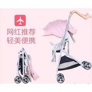Vinng單手秒收避震嬰兒推车可上飛機可坐躺超輕便折叠便携式高景觀