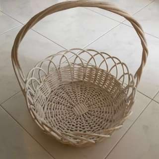 White Hamper Basket