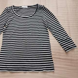 Forever 21 Striped 3/4 Sleeve