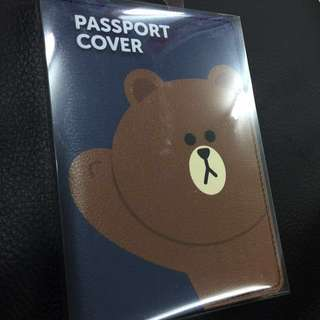 Line Friends-Brown 熊大 Passport 皮套
