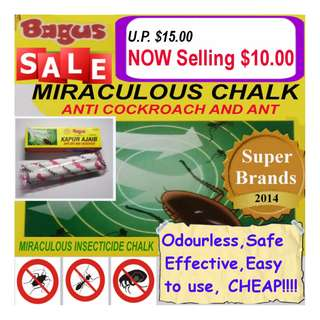 "Miraculous Insecticide Chalk ""Bagus"" (Anti Cockroaches & Ants)"