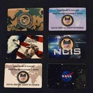 🇺🇸 美國創意卡貼 / 悠遊卡 i cash 卡片貼 NASA 太空總署 美國軍種卡片貼 美軍行政卡
