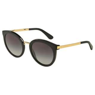 Dolce & Gabbana DG4268F sunglasses black and gold