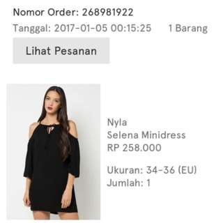NYLA off shoulder minidress (NEW)