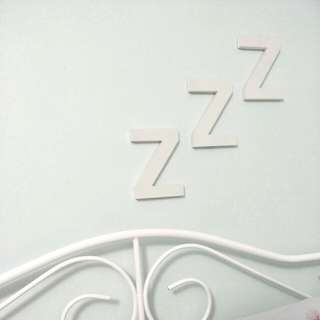 NEW Large Z Wood Letter Blocks - Black, Set of 3, Typo, Sleep, Wall Decor, Bedroom, Quirky, Simple, Minimal, Minimalism