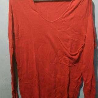 Knitwear panjang merah