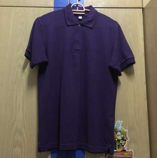 Uniqlo Purple Polo