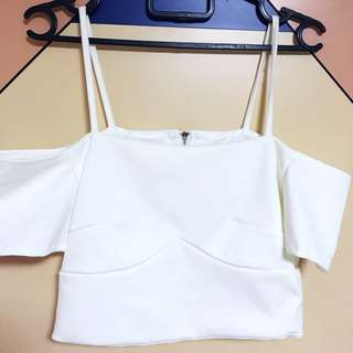 White Strapped Crop Top