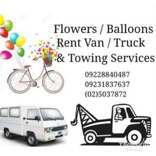 Balloon/Flower/Van Rent/Truck/Towing