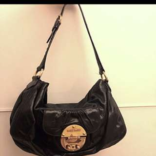 Mui Mui Black Shoulder Bag