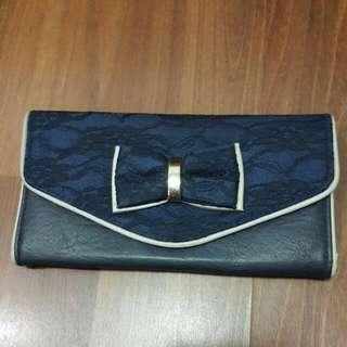 "New Look ribbon wallet-""JKT"""