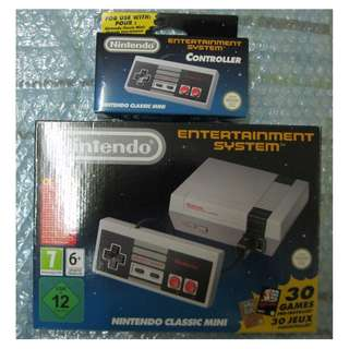 Nintendo Classic Mini with extra Controller