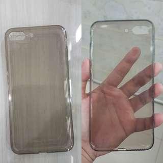 Jelly casing tipis iphone 7plus 7+ bening