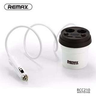 Remax CR-2XP Demitasse Car Dual USB Charger – Black White