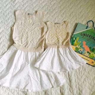 Gingersnaps dress terno  14yo and 2-4yo