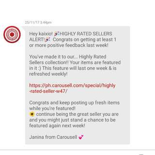5th HIGHLY RATED SELLERS ALERT