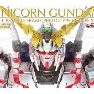 Perfect Grade Unicorn Gundam with Led Unit