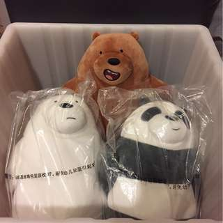 **LAST SET** We bare bears plush toys barebears