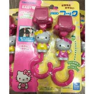 🎄現貨出清♥️Hello kitty 手推車掛鉤 🉑️旋轉 (粉色)#我的嬰幼可超取