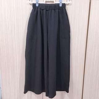 全新現貨🔥韓版黑色鬆緊寬褲