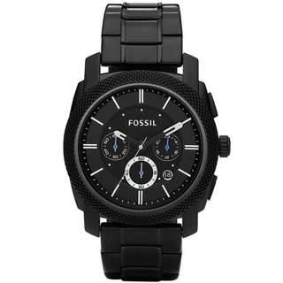 Fossil Men's Stainless Steel Chronograph Watch Black FS4552