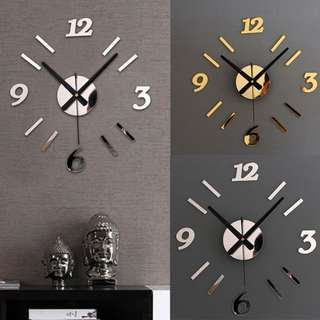 Wall clock aticker decal