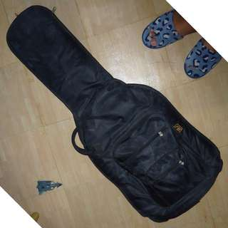 RJ Padded Guitar Gig Bag with FREE Strap, Capo, short effects cable & DAPHON E20DS Distortion Effects