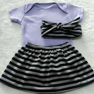 Skirt set stripes